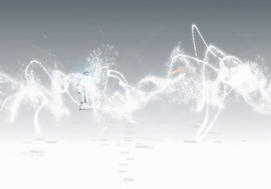 Create this WHITE 3DPARTICLES  intro video JUST