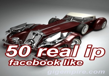 give you 50 real people, real ip facebook