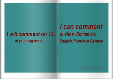 Manually Comment On 12 Of Your Blog Posts