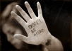 write any message on my hand and send it off in high resolution photo
