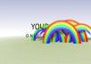 Create this RAINBOW REVEAL intro video JUST
