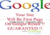 make your site first page of google result in a month for