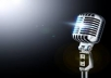 create a 60 second voice-over