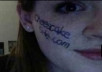 write your message on my face