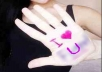 write YOUR message on my hand