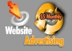 advertise your goods and services on our websites for 30 days