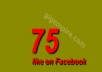 give you 75 Facebook Likes in 48 hours
