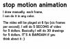make stop motion ANIMATION