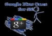 give 50 genuine google + votes to increase your seo ranking